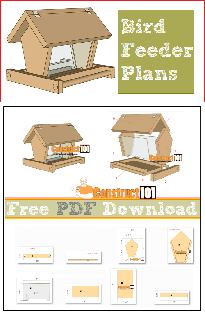 Build A Bird Feeder Pdf Download Construct101