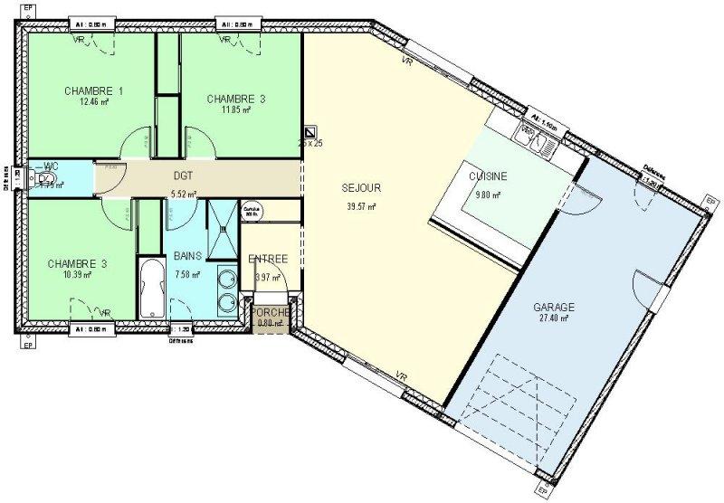 CONSTRUCTION 86FR Gt Plan Maison Traditionnelle De Plain