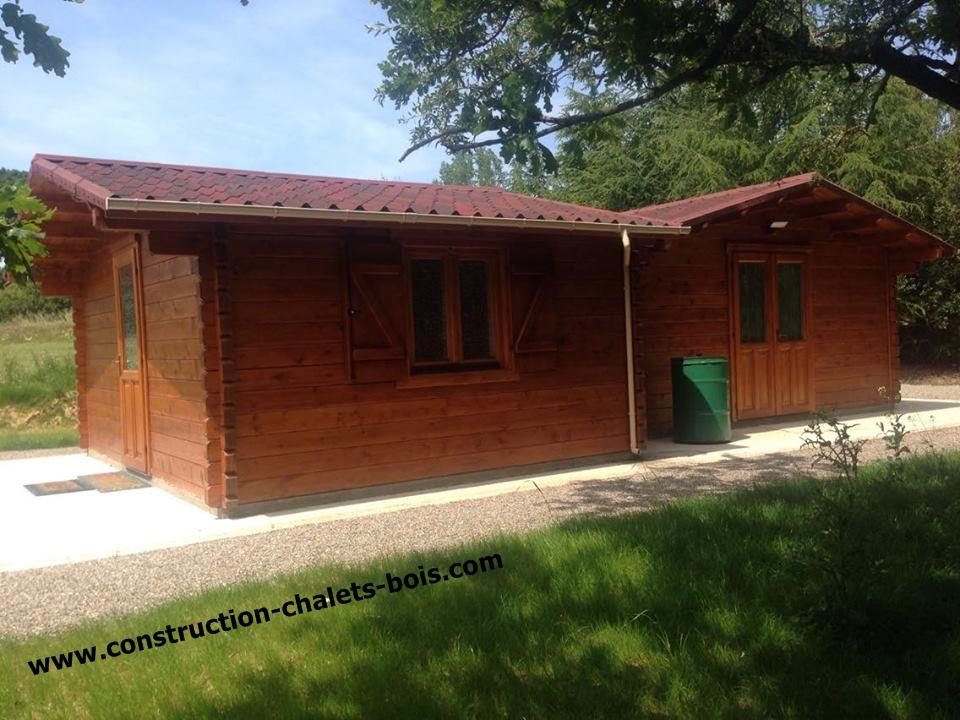 maison de jardin avec ossature bois