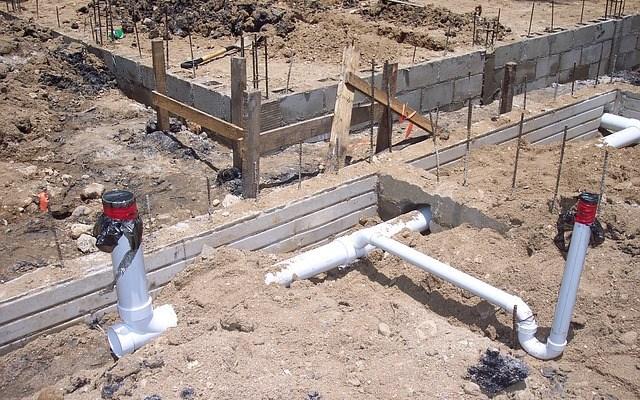 Évacuation d'eau de fouilles