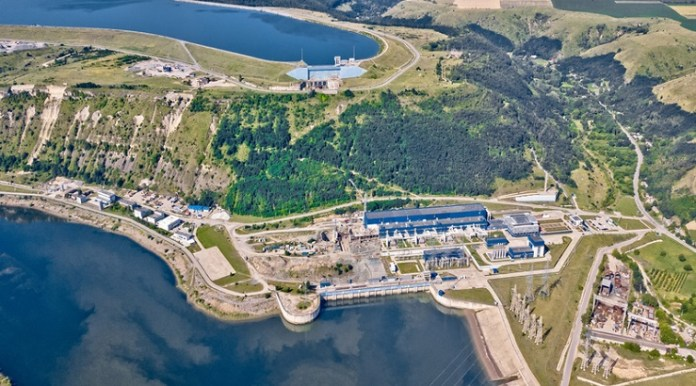 The Dniester hydroelectric power project.