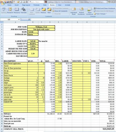 Mike anderson's forms for the collision repair industry. Labor Costs Estimating Sheet Download