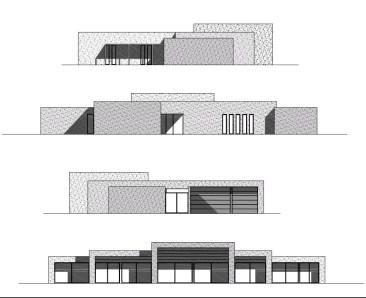Casa modular de Hormigón celular Bigues de alto estandar de un plano a una casa