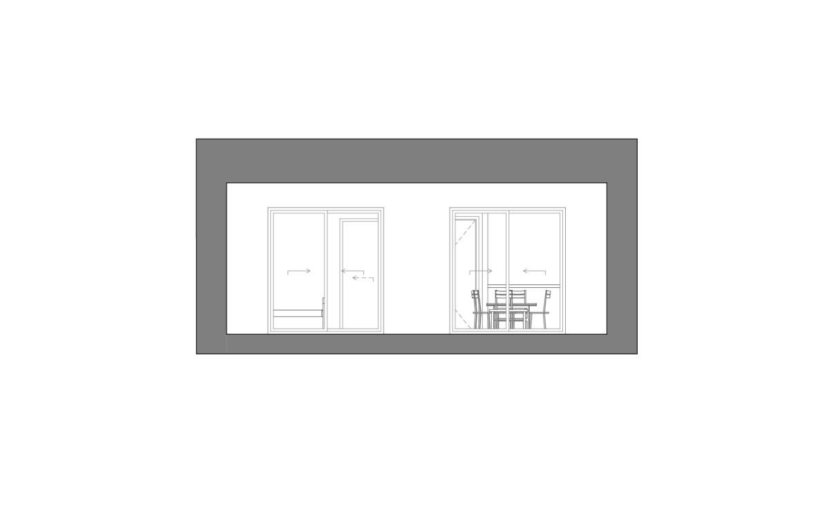 Alzado dibujado de Modelo de casa prefabricada Besalu Planta