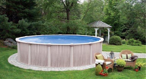 une piscine en tole