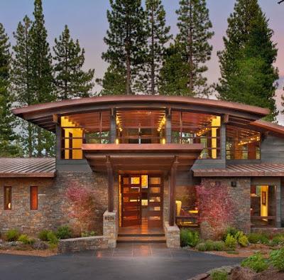 Fachadas de casas modernas en el campo, diseños y estilos ...