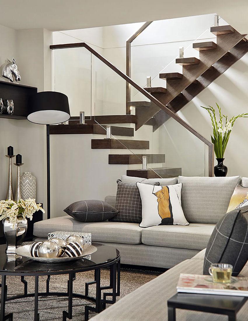 Casa de dos pisos moderna, fachada y diseño de interiores on Interiores De Casas Modernas  id=38438