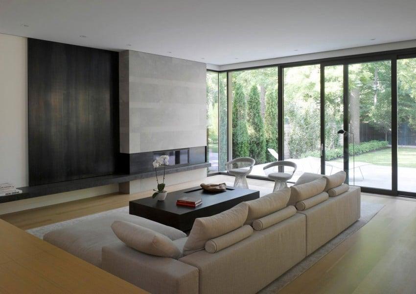 Diseño de casa moderna de dos pisos Fachada e interiores on Interiores De Casas Modernas  id=21625