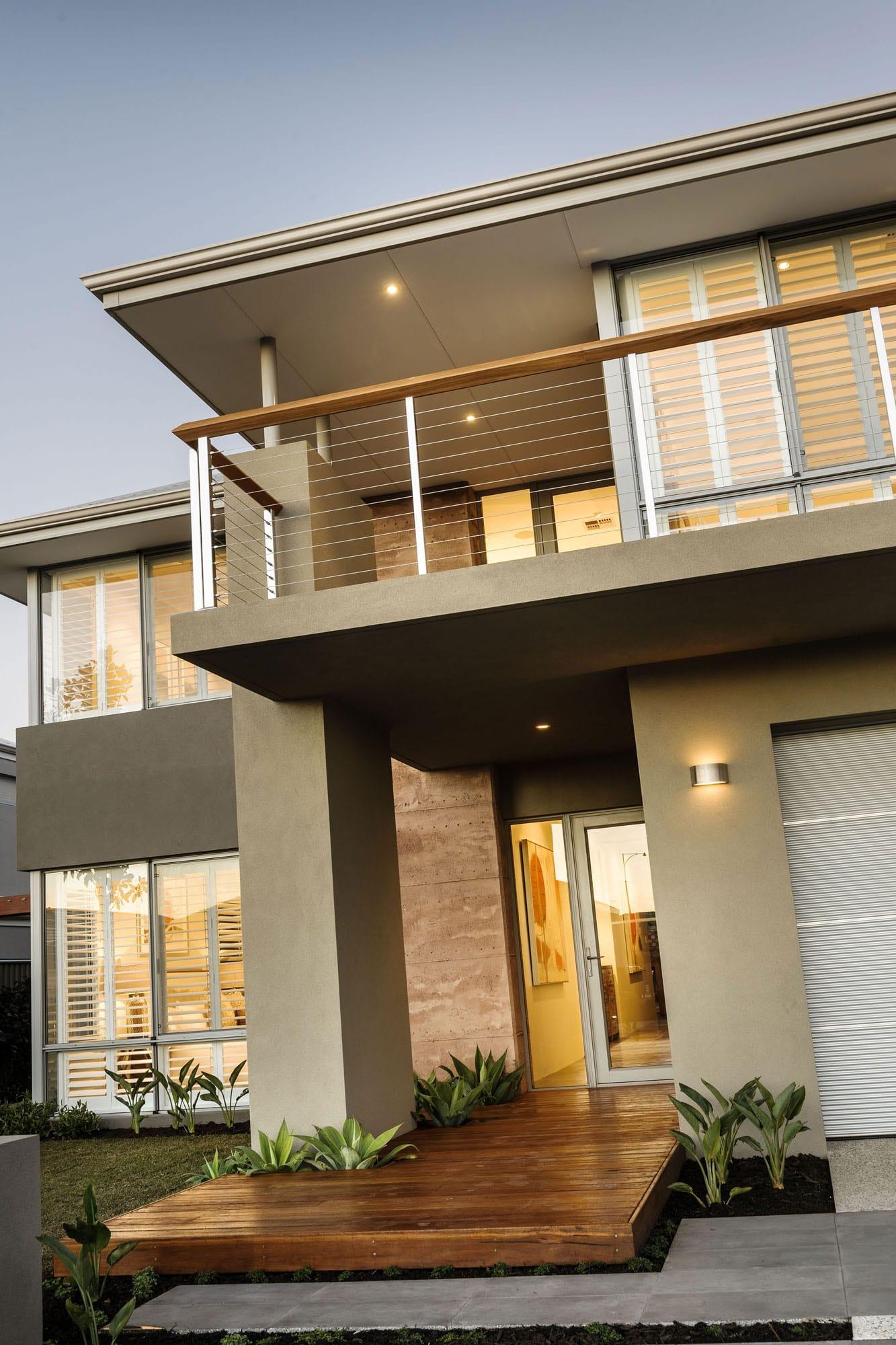 Diseño de casa moderna de dos pisos, fachada e interiores on Interiores De Casas Modernas  id=73342