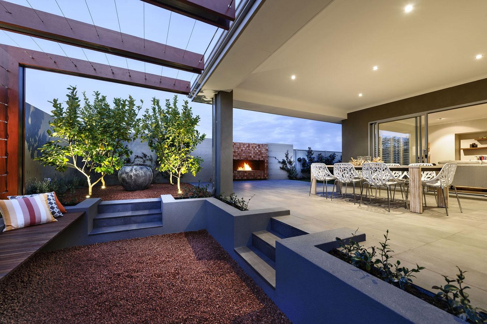 Diseño de casa moderna de dos pisos, fachada e interiores on Interiores De Casas Modernas  id=73238
