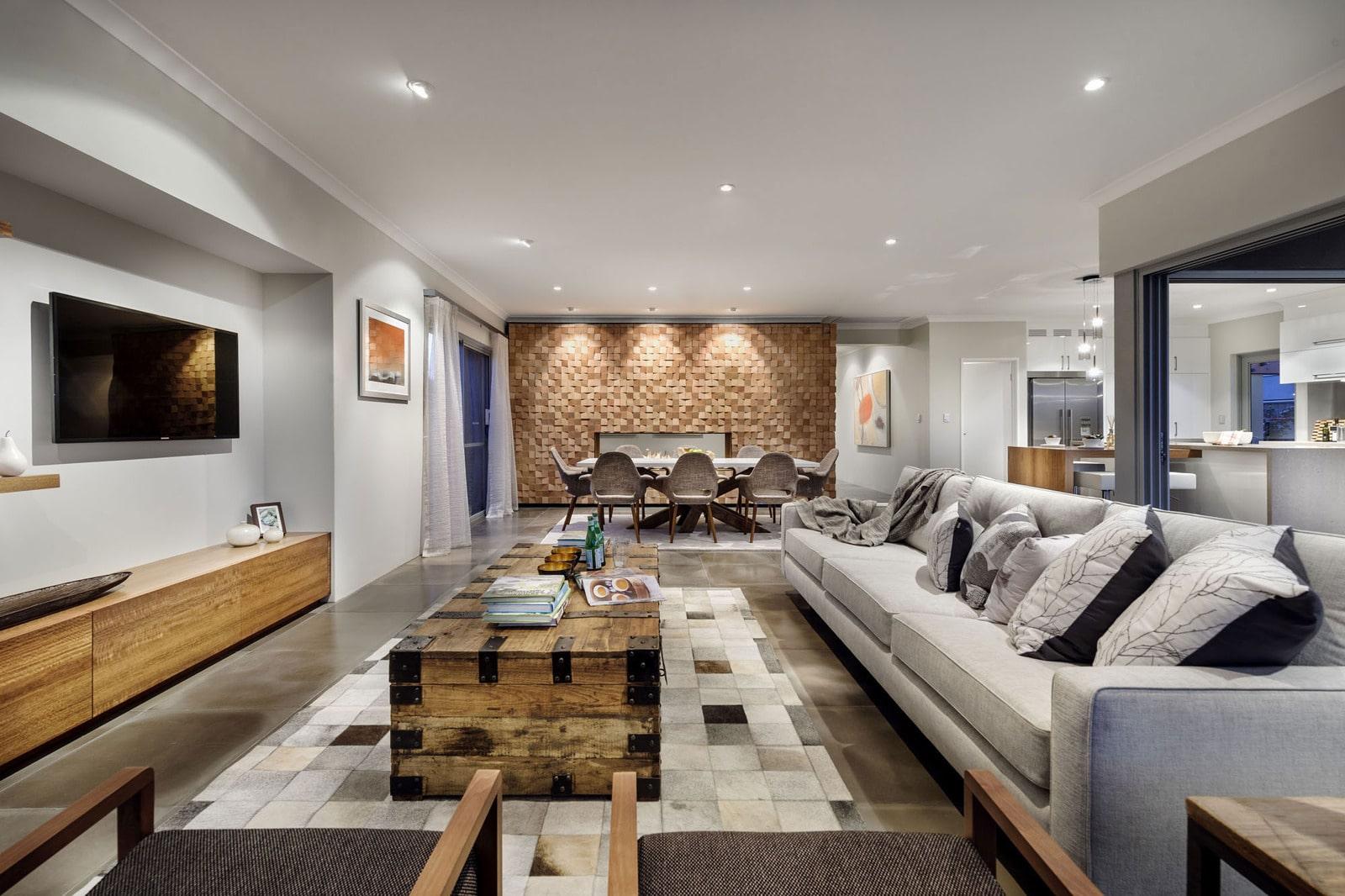 Diseño de casa moderna de dos pisos, fachada e interiores on Interiores De Casas Modernas  id=22004