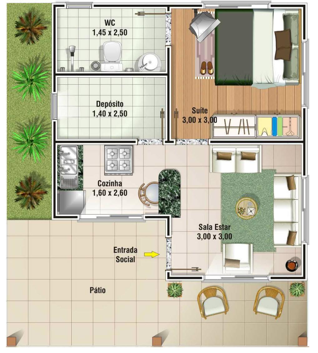 Planos de casas rurales con patio interior - Planos de casas con patio interior ...