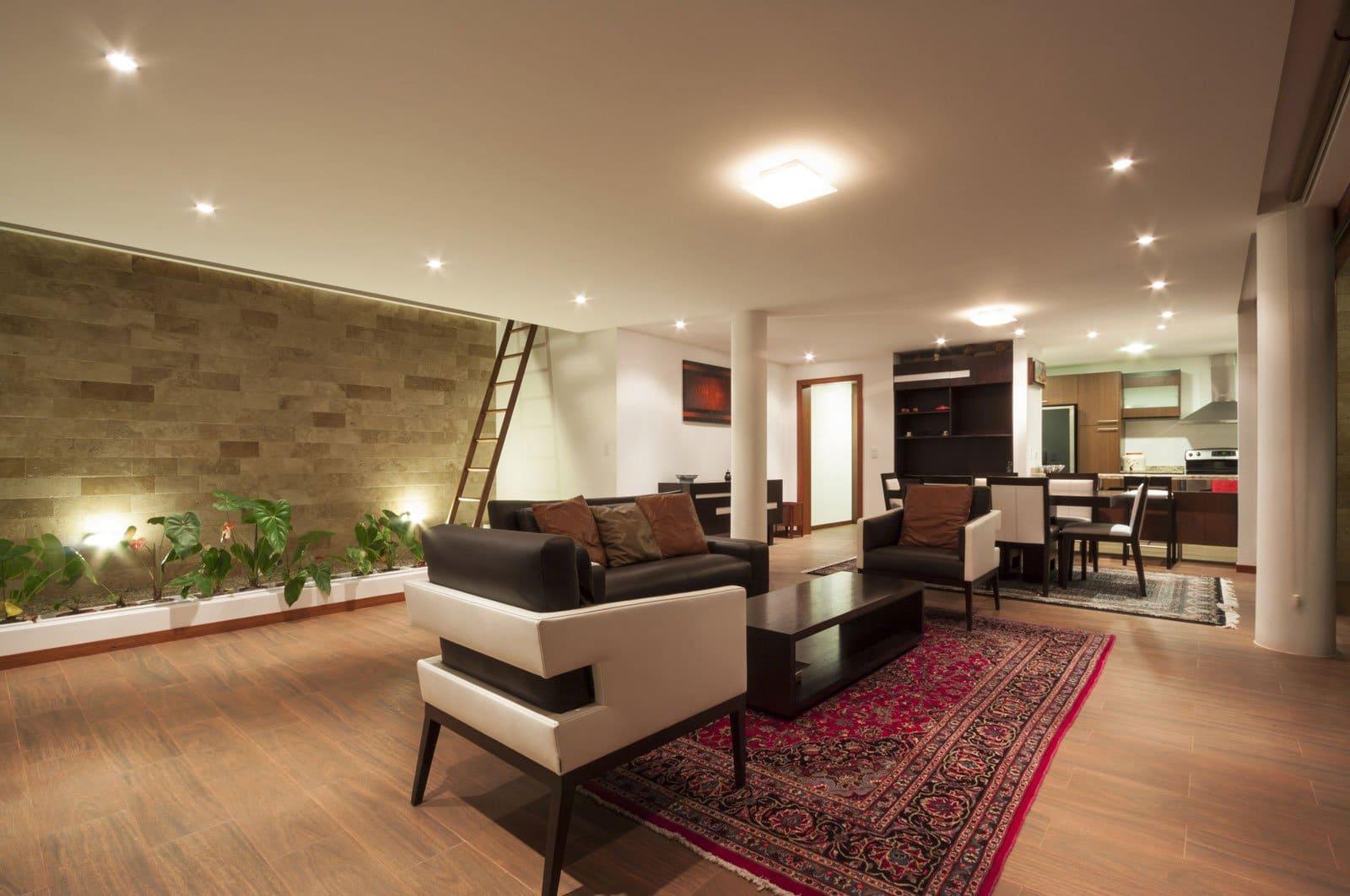 Casa una planta moderna con techo verde on Interiores De Casas Modernas  id=64576