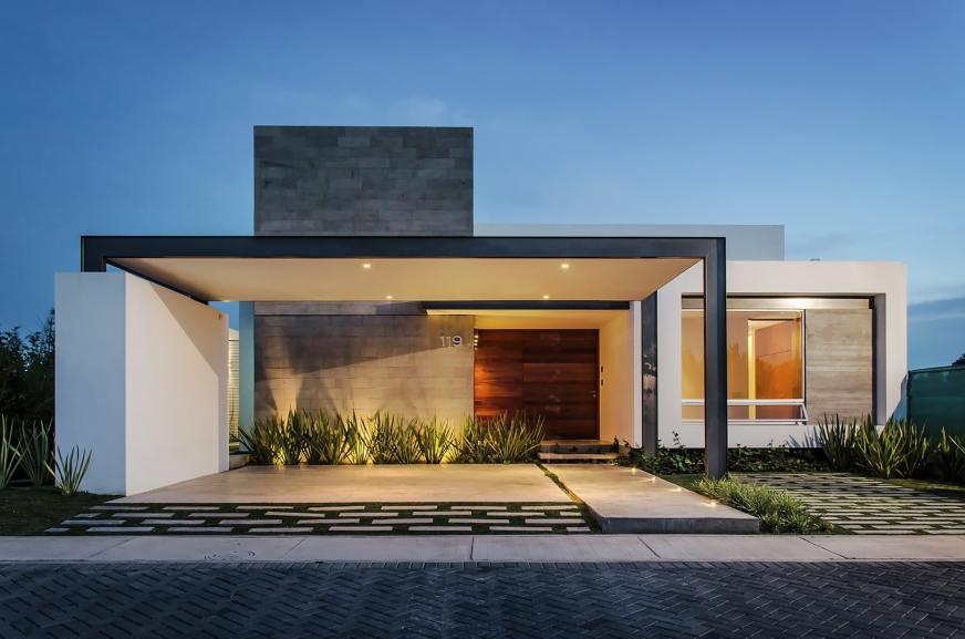 10 modelos de casas modernas de un piso, ideas y estilos ...