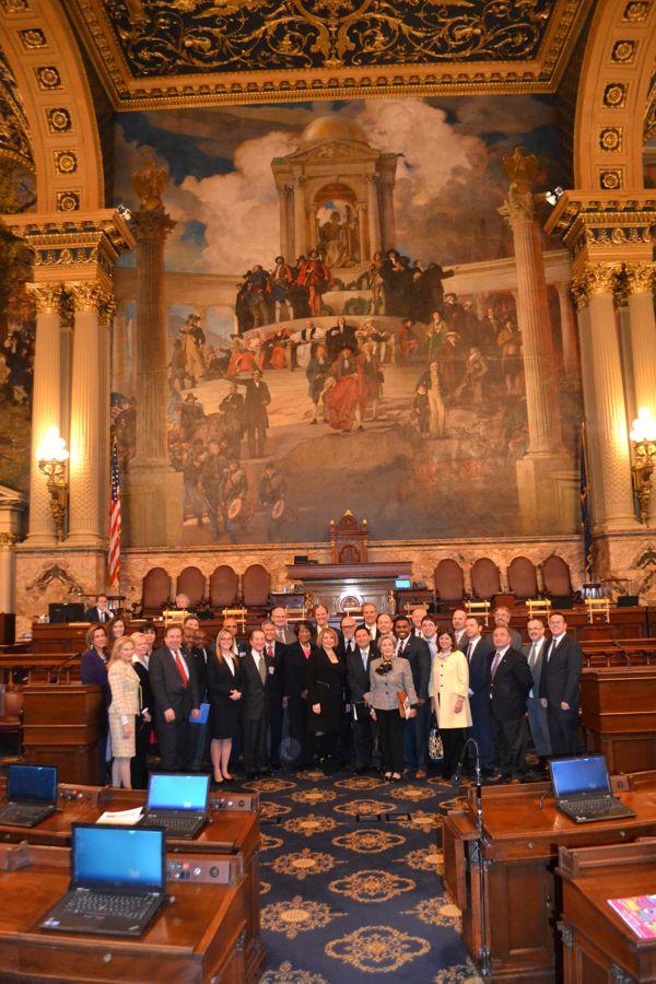 CCAP Members on PA House Floor (2)