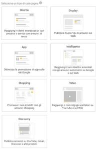 Tipologia di Campagna Google Ads Mobile