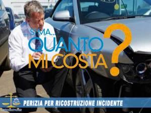 Quanto costa una perizia auto per incidente stradale