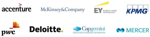 Resultado de imagem para Deloitte Capgemini Accenture