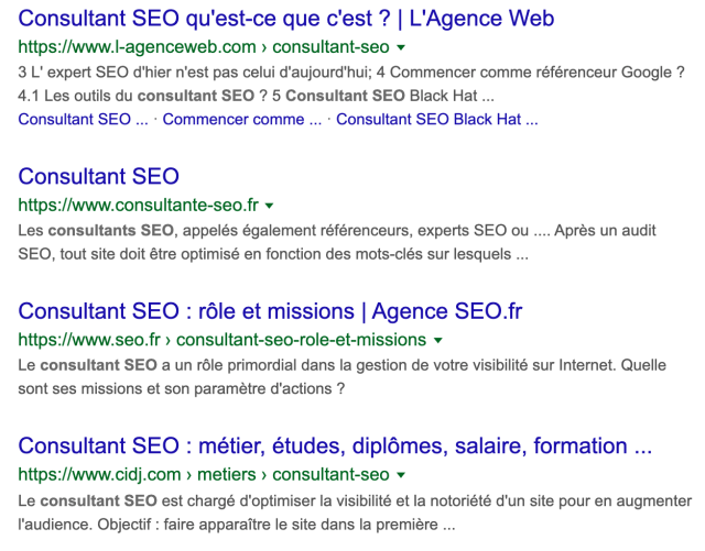 concurrents moteurs consultant seo