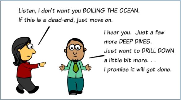 Jargon - Boil the Ocean Deep Dives Drill Down