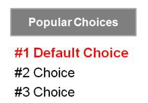 Nudge - Default Choice
