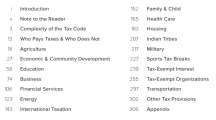Consultantsmind - Tax Decoder Table of Contents