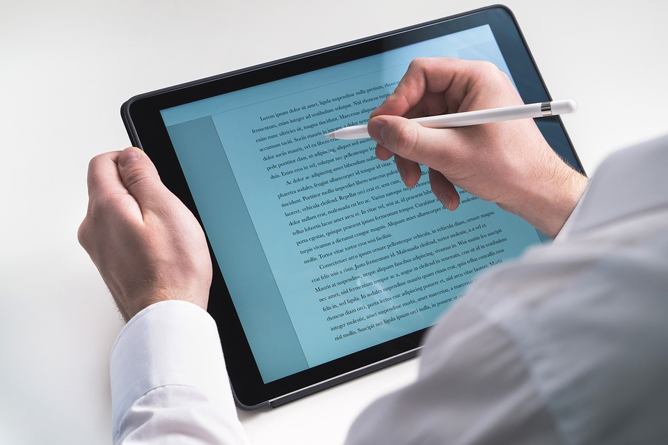 Tablet for writing