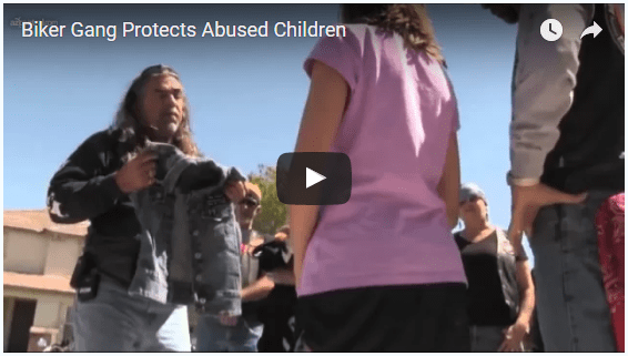 pivotal inspiring video - biker gang protects abused children