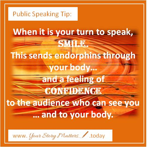 Pivotal Public Speaking - Smile for confidence and connection