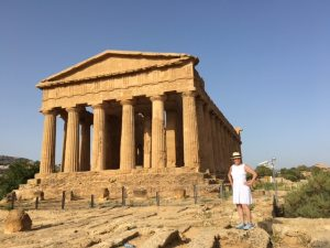 Barbara Nevins Taylor at the Temple of Concordia