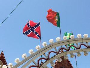 Confederate Flag at San Leone amusement park, Agrigento, Sicily