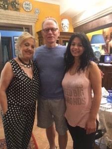 Nick Taylor, Rita and Grazia at B&B Kimera Piazza Armerina, Sicily