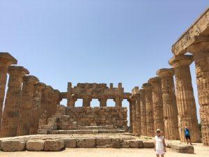 Barbara Nevins Taylor at Temple of Hera, Selunite, Sicily