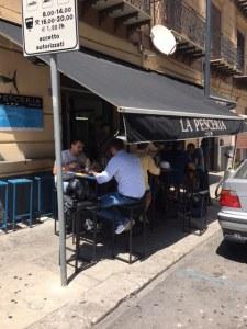 Diners at La Pesceria, Palermo, Sicily
