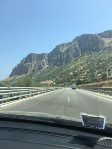Driving along Mountains Sicily