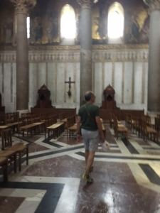 Nick Taylor in Monreale Duomo Sicily
