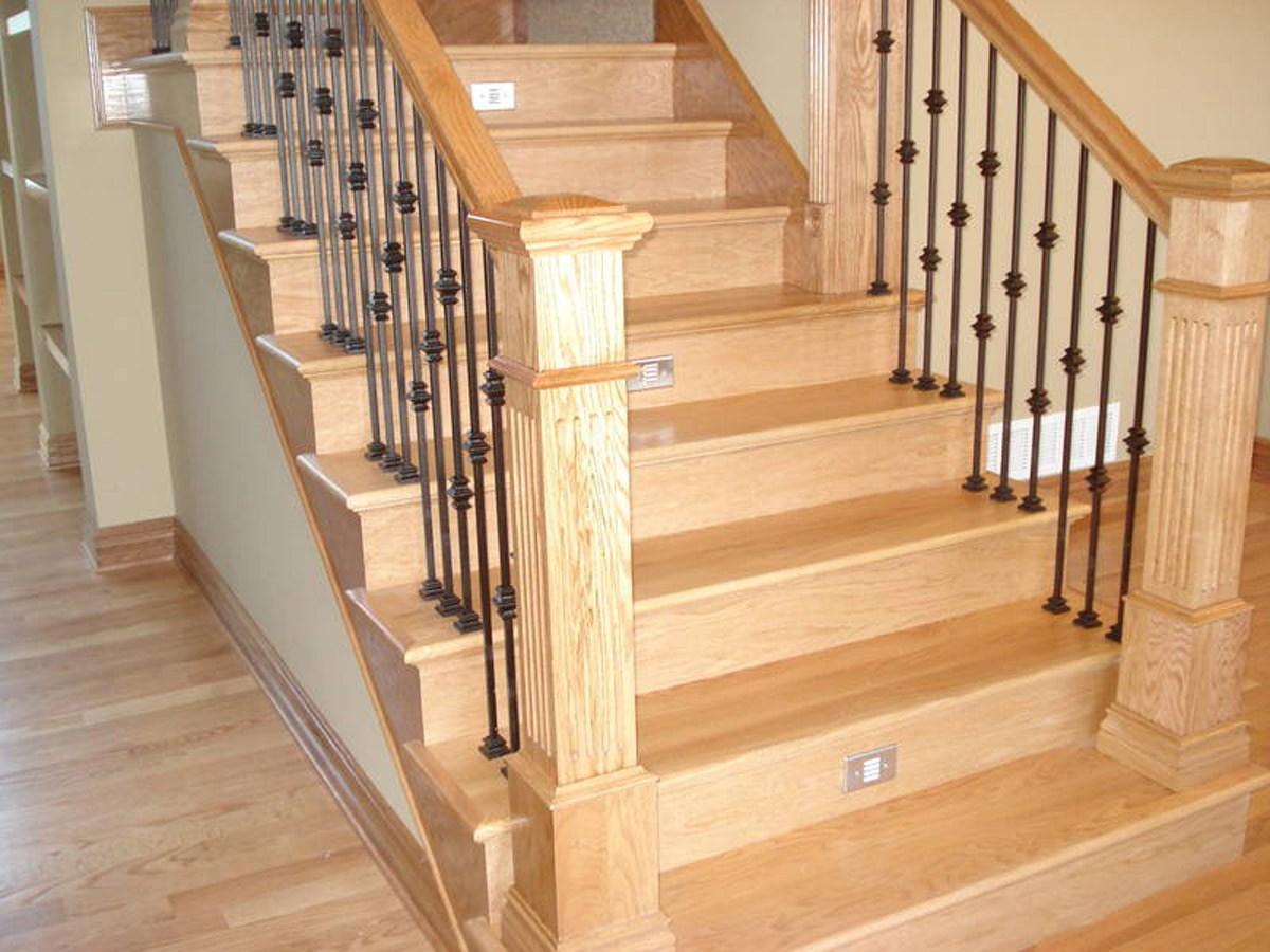 Plywood Oak Maple Stair Treads Spindles Iron Rods Toronto | Custom Oak Stair Treads