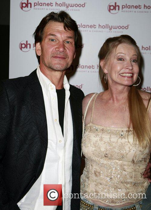 Patrick Swayze and Lisa Niemi Planet Hollywod Resort's Grand Opening - Day 2