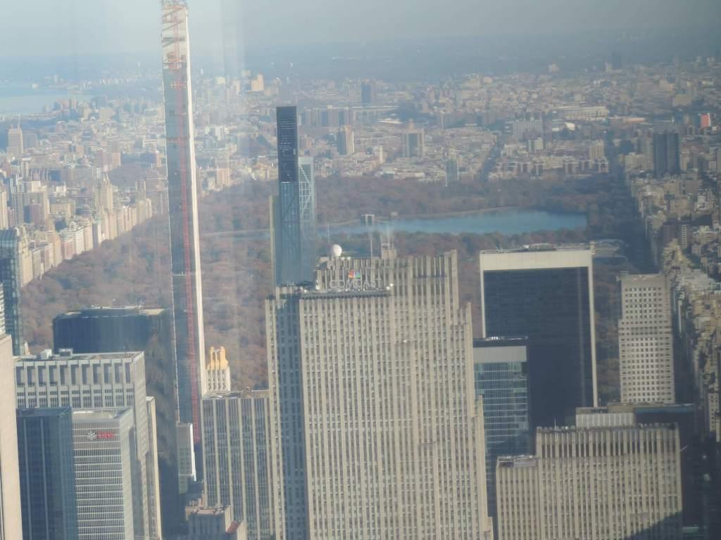 vista del central park desde el nuevo mirador del piso 102