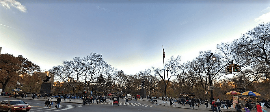 Ingreso al Central Park - Calle 59th St. y 6th. Ave.