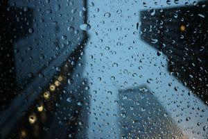 Edificios de Nueva York un dia de lluvia
