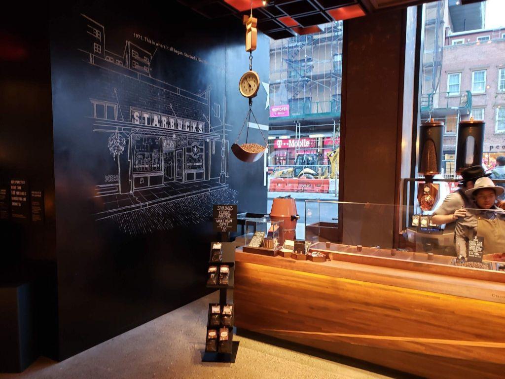 Starbucks Reserve Roastery scooping bar