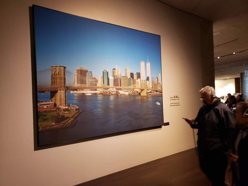 Foto de las Torres Gemelas en el Museo del 11-S