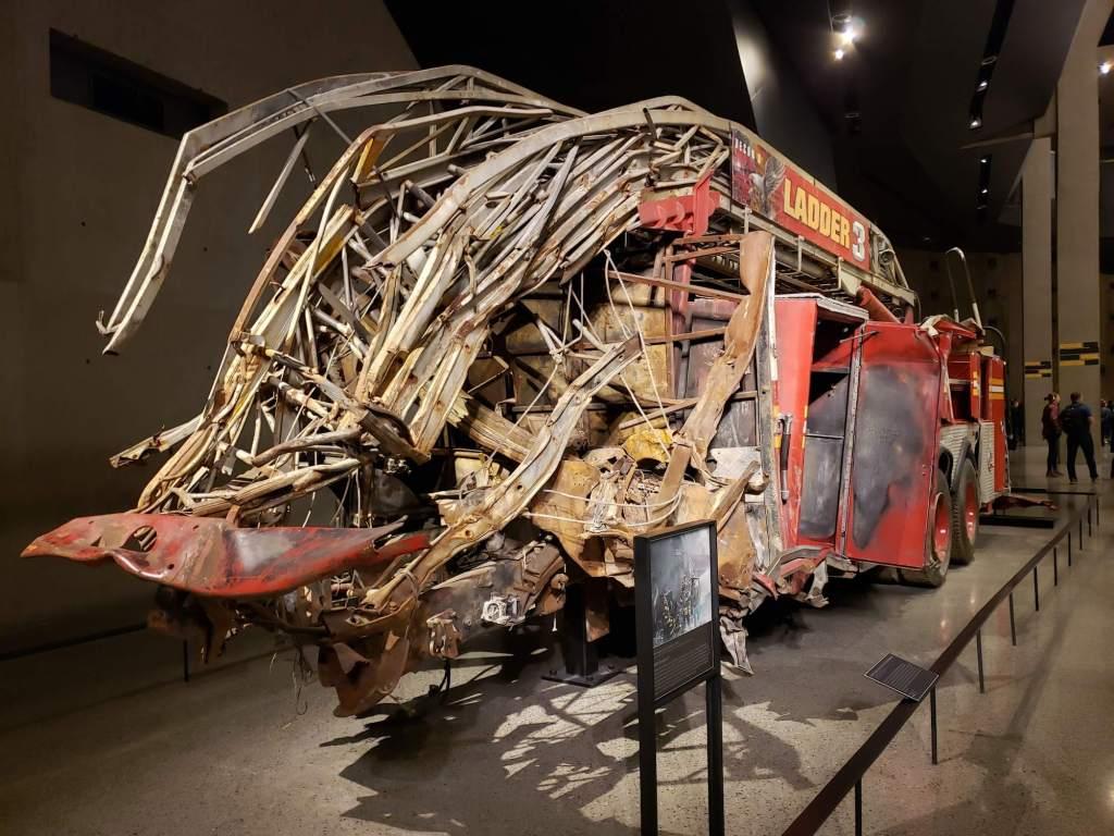 Restos de Camion de Bomberos Museo del 11-S