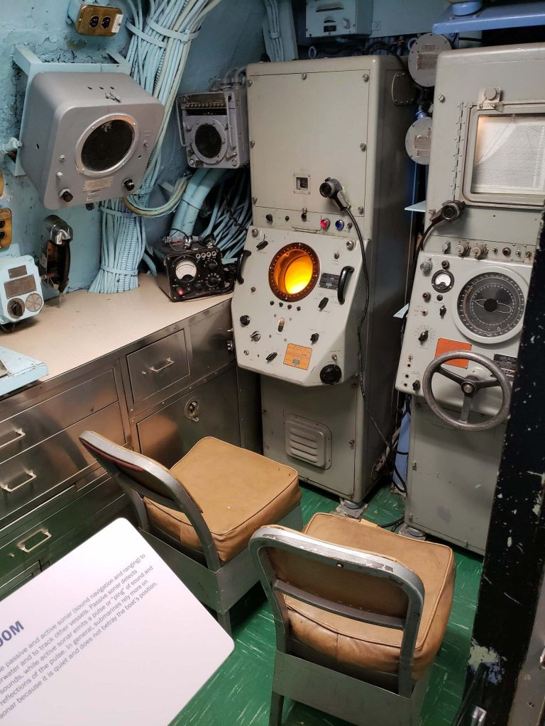 Interior del Submarino Growler