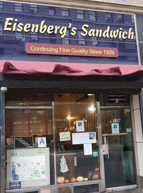 Frente de Eisenberg's Sandwich en NYC