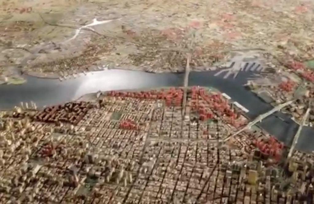 Maqueta Panorama de Nueva York Queens Museum