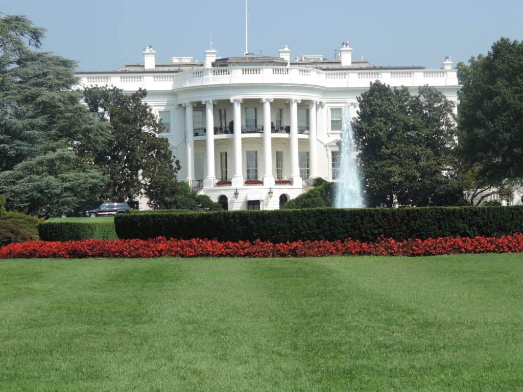 Parte trasera de la Casa Blanca