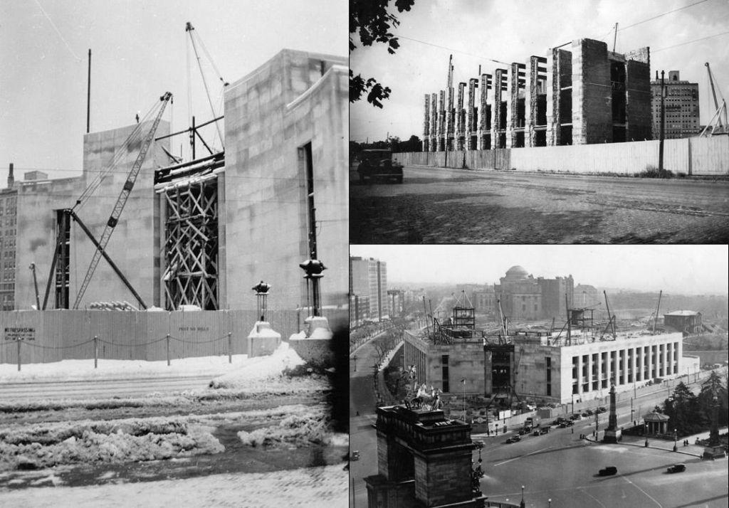 Construcción de la Biblioteca Pública de Brooklyn- Foto de Archivo