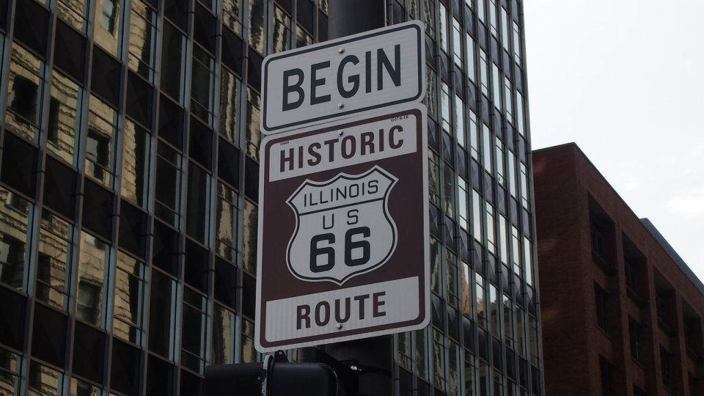 chicago-route 66 sign